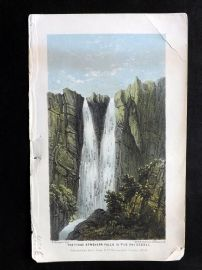 Williams &  Steeple 1859 Print. Tysse Strenger Falls in the Skiggedal, Norway
